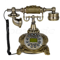 Antique Telephone 108b Bronze Retro Vintage Push Button Ceramic Dial Desk Phone
