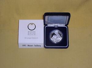 Osterreich-100-OS-Silber-1991-PP-Mozart-in-Salzburg