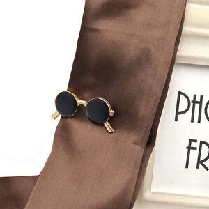 b6cd5fbe15d8 Image is loading Vintage-Sunglasses-Shape-Tie-Clip-Bar-Necktie-Pin-