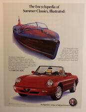 1991 Alfa Romeo Spider Veloce Ad - Must See !!