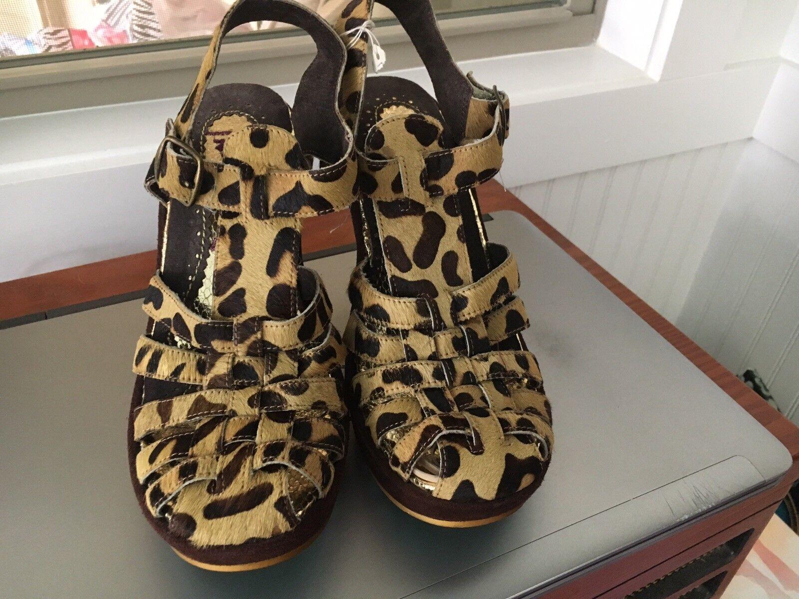 Nuevo Sin Caja Irregular Choice Leopardo Zapatos 6 1 2