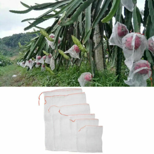 5 Sizes Garden Plant Fruit Protect Drawstring Net Bag Mesh Against Insect Pest