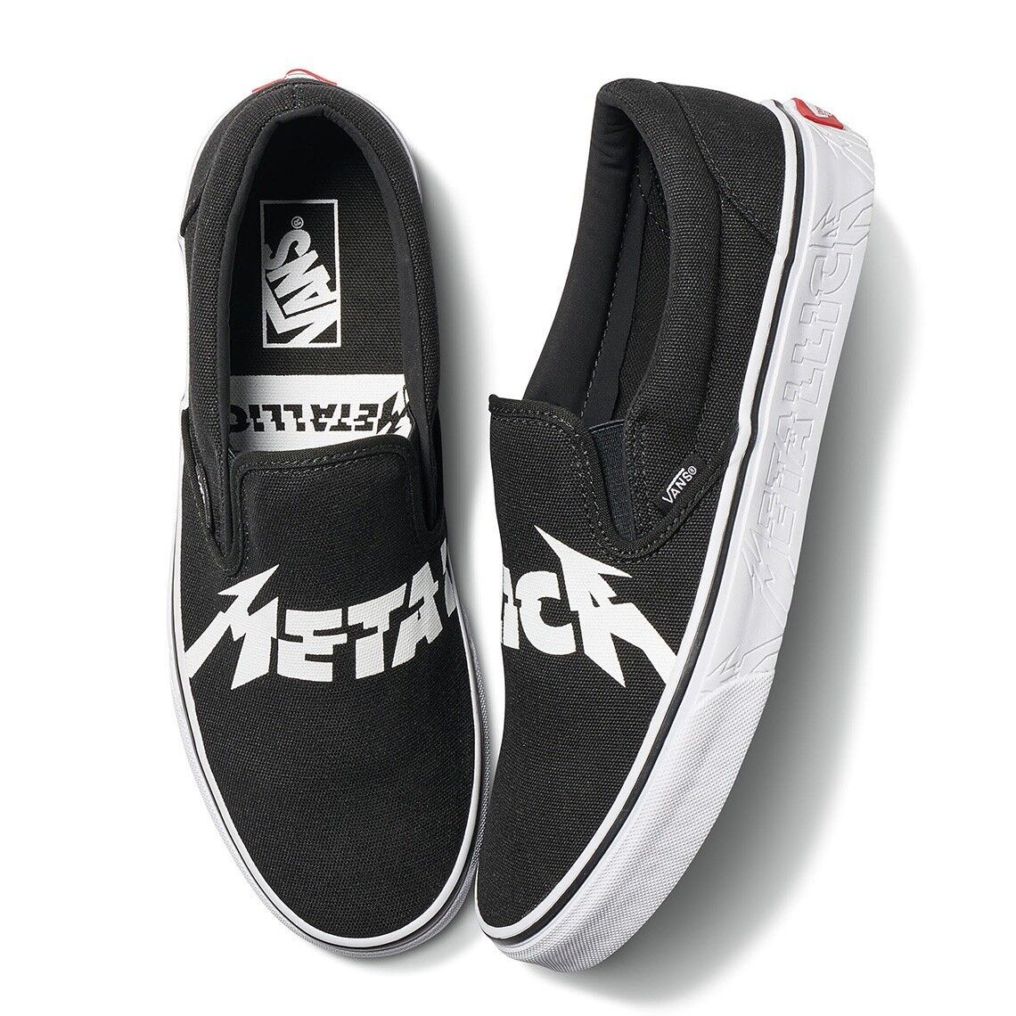 Vans X METALLICA Collab Classic Slip On Vault Deadstock Rare Sold Out Size 8.0