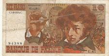 Billet banque 10 Frs BERLIOZ 01-08-1974 C U.67 état voir scan