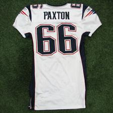 2006 Lonie Paxton Game Worn White New England Patriots Jersey