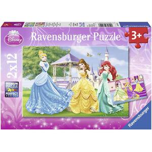 RAVENSBURGER-puzzle-2-x-12-pieces-DISNEY-Les-princesses-dans-le-chateau-NEUF