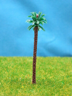 tP04-50pcs Scale Train Railway Layout Model Coconut Palm Trees HO TT N (55mm)