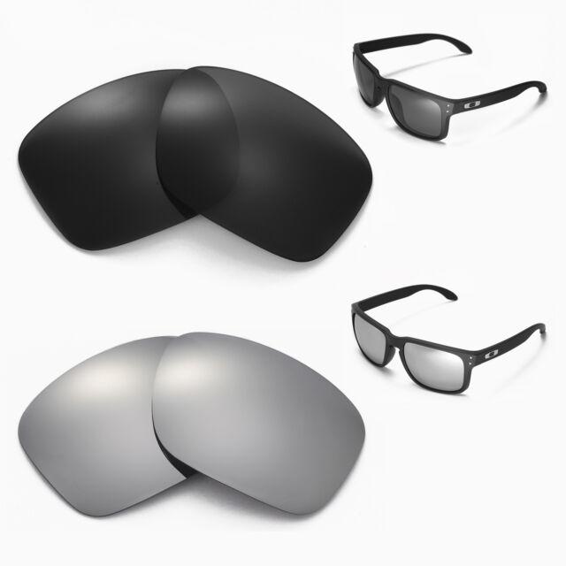 da23e1d1df Buy Walleva Polarized Black Titanium Lenses for Oakley Holbrook ...