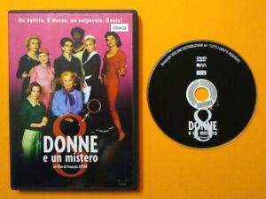 DVD-Film-Ita-Commedia-8-DONNE-E-UN-MISTERO-deneuve-ex-nolo-no-vhs-lp-cd-mc-D10