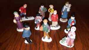 11-Lemax-amp-Other-Christmas-Village-Collectible-Porcelain-Holiday-Display-Figures