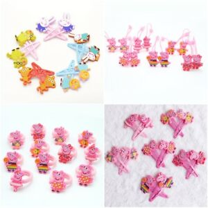 Details About Girls Peppa Pig And Friends Characters Hair Clips Hair Grips Cute 2pc Hair Sets