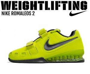 Image is loading NIKE-Romaleos-2-Weightlifting-Powerlifting-Shoes -Gewichtheben-Schuhe