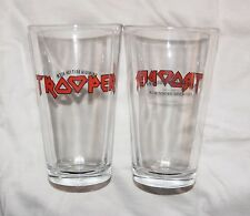 Iron Maiden TROOPER 16 oz Pint Glass British Ale Beer Robinsons Brewery England