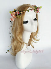 Floral Crown Head Wreath Flower Headband Hair Garland Wedding Photo Headpiece