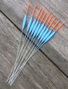 HAND-MADE-POLE-FLOATS-10-F1-SUPER-SLIMS-MAD-SUMMER-PRICES-1-5mm-25mm-tip