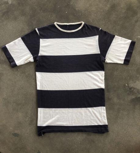 VTG 1960's Blue/White Striped Surf Tshirt Women's