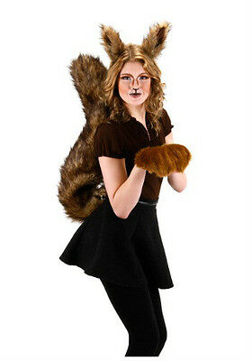 DELUXE OVERSIZED BIG SQUIRREL TAIL SCRAT ANIMAL COSTUME TAILS BROWN FURRY