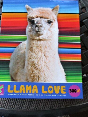 Ceaco Puzzle 300 Piece LLAMA LOVE 18x24 New