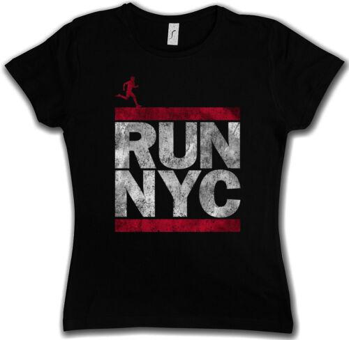 Run NYC T-shirt Femmes New York City Run Fun coureur DMC Marathon Letters Ghetto