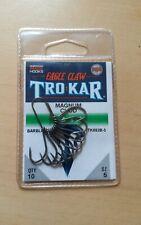 Wide Gape Curved Chod /& Long Shank TroKar Eagle Claw Magnum Carp Hooks