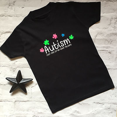 Autism small Jigsaws Just one of my many Talents T Shirt Supersoft Sensory