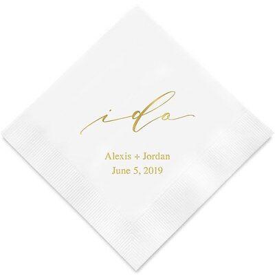 Wedding Cocktail Napkins.100 I Do Personalized Wedding Cocktail Napkins Ebay