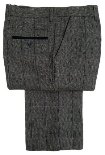 Hommes Marc Darcy Tweed Pantalon à Carreaux Style Dx7 Gris Charbon