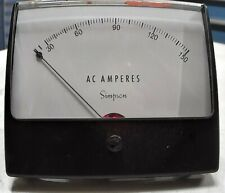 Simpson Electric Model 1359 Panel Meter 0 150 Ac Amp 5 In Display Freeship