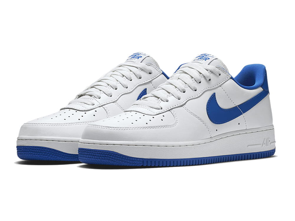 NIKE AIR FORCE 1 LOW RETRO 845053-102 GAME ROYAL WHITE SIZE 11 USA NEW DS