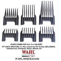 Wahl 5 In 1 Blade Attachment Guide Comb Set -super Groom,bellissima,figura 5in1