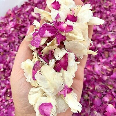 Ivory Dried Biodegradable Wedding Confetti 1ROSE GOLD Pink Real Flower Petals
