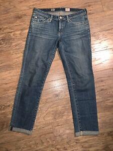 AG-Adriano-Goldschmied-Womens-Stilt-Crop-Roll-Up-Jeans-Medium-Blue-Size-29-X-26