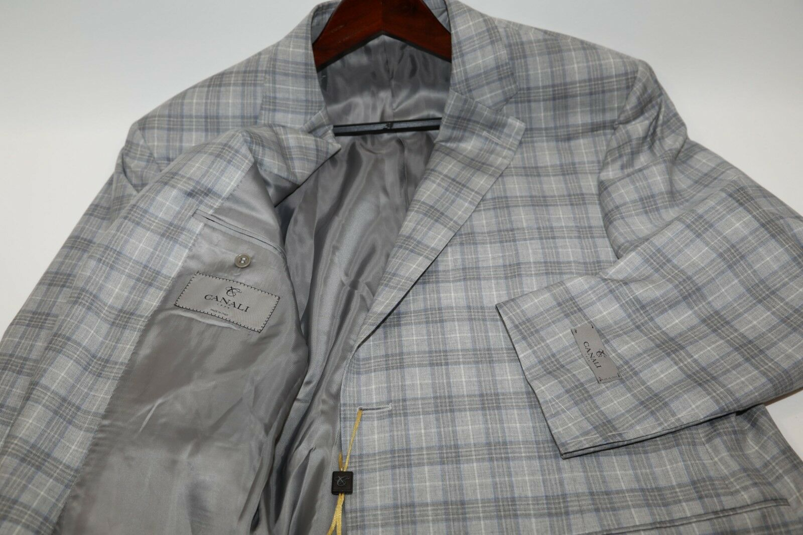 53 CANALI  13290 Plaid Fabric Blazer Größe 48 R