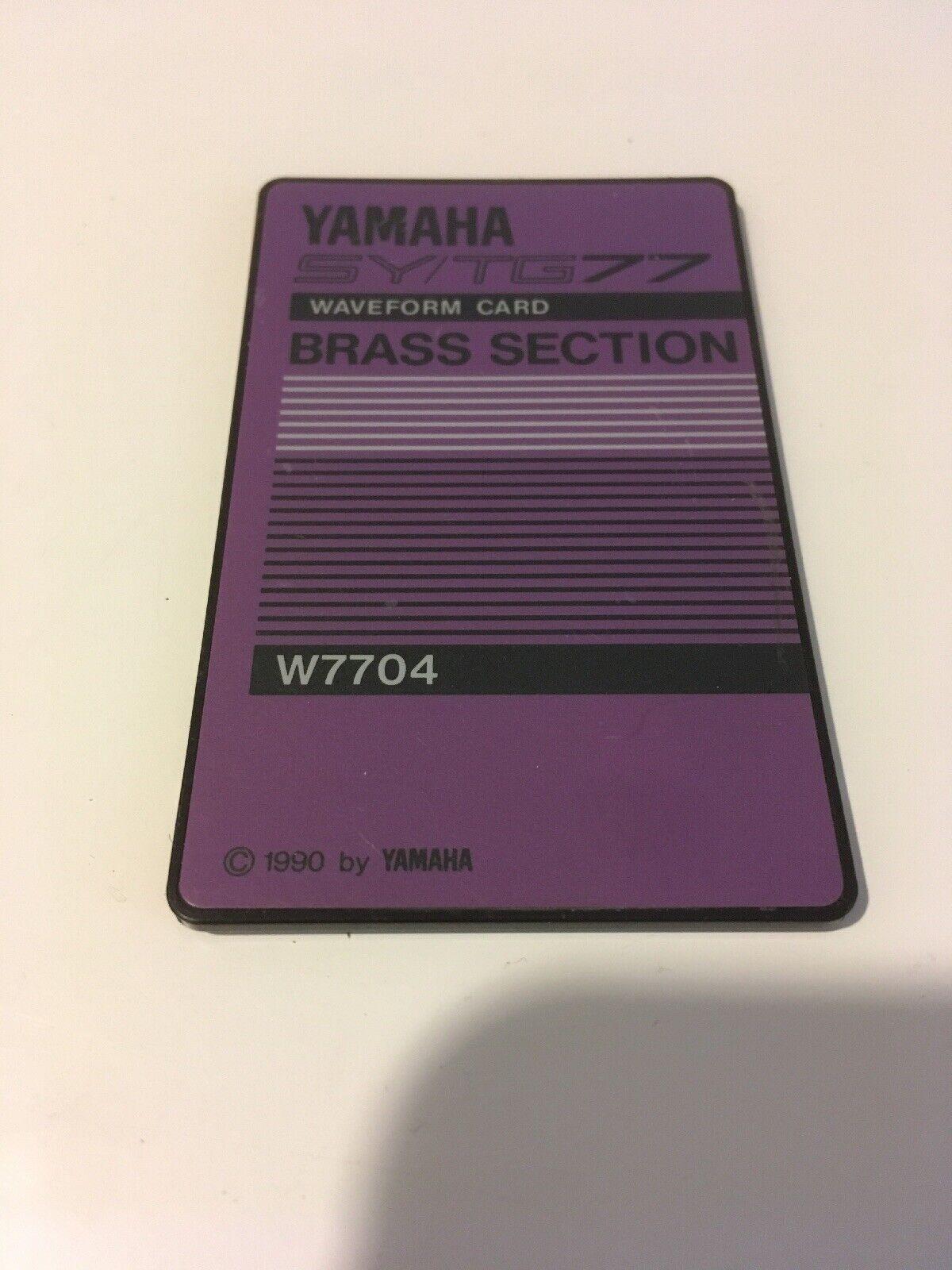 Yamaha SY   TG77 ROM Card - Brass Section