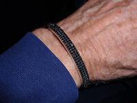 Park Lane Jewelry, all Night Bracelet, Host. Only, Silvertone, Jet Cz's