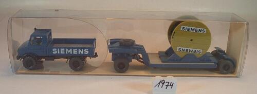 26 502//1 Unimog 1700 L mit Tieflader Siemens OVP #1974 Wiking 1//87 Nr