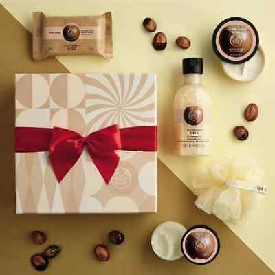 Body Shop ~ Shea Festive Picks Gift Set ~ Gel250ml+scrub50+butter50+soap100+lily Can Be Repeatedly Remolded. Mixed Items Bath & Body