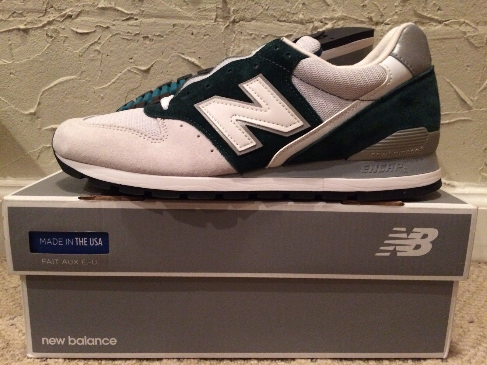 new arrival a8272 090bd New Balance M996CEPA Heritage Green Light Grey Grey Grey Mens Size 9.5 DS  NEW USA Made