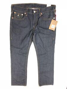229-True-Religion-Jean-Men-Size-36x34-Straight-Flap-Dark-Wash-Denim