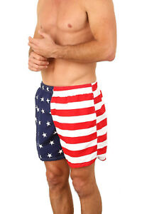 Men-039-s-American-Flag-Low-Rise-Swimtrunk-Brief-Swimsuit-USA-stars-stripes-1817