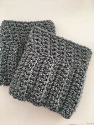 Strong-Willed Boot Cuffs In Grey Color Boot Socks Boot Toppers Leg Warmers
