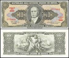 Brazil 1 Centavo on 10 Cruzeiros, 1967, P-183b, Circulated, Used