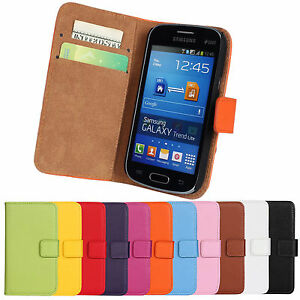 Cuir-Stdan-Portefeuille-Pochette-Housse-pour-Samsung-Galaxy-Frais-GT-S7390