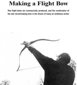 Bow-Arrow-Archery-Plans-Wood-Metal-Long-Flat-Cross-Flight-Bow-Manuals