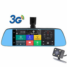 """3G WIFI Car DVR Video Recorder Dual Lens Rearview Mirror 7"""" Android5.0 Dash Cams"""