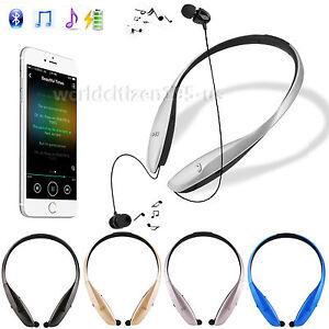 Auto Retract Bright Shinny Bluetooth Headphones Hands-free Sports Stereo Headset