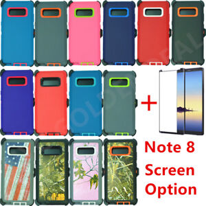 on sale 4e1e7 7ec7e Details about For Samsung Galaxy Note 8 Defender Case w/ Screen Protector &  Clip fits Otterbox