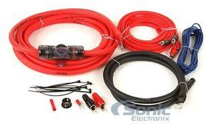 T-Spec V6RAK4 4 Gauge V6 CCA Amp Wiring Kit w/2-CH Marine Grade RCA Interconnect
