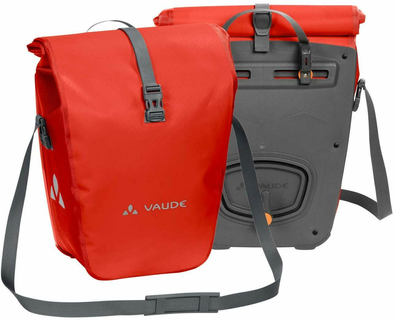 VAUDE Rear Pannier Bike Bag Set of 2 48L Tarpaulin Bike Panniers Waterproof NEW