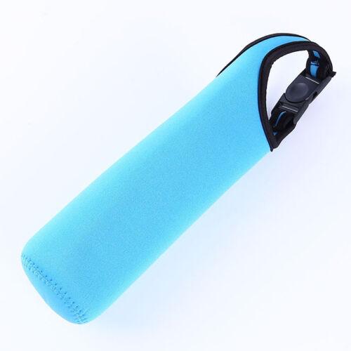 Multicolor Water Bottle Insulated Cover Holder Carrier Bag Shoulder Strap AL